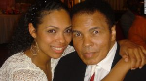 Hana Ali with dad Muhammad Ali/Photo: Hana Ali