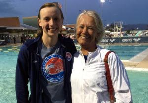 Katie Ledecky and Debbie Meyer at Arena Pro Swim Series, Mesa Ca/Photo: NYTimes