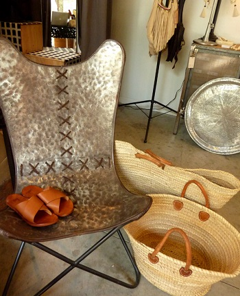 Linda Hamilton designed chair at Nomad Chic
