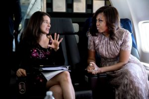Michelle Obama and speechwriter Sarah Hurwitz/Photo: Chuck Kennedy, The White House