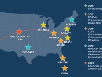 Diana Nyad EverWalk map/EverWalk website