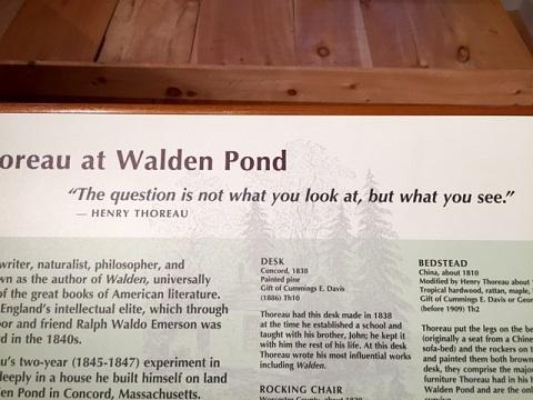 Thoreau quote, Concord Museum/Photo: P. Burke