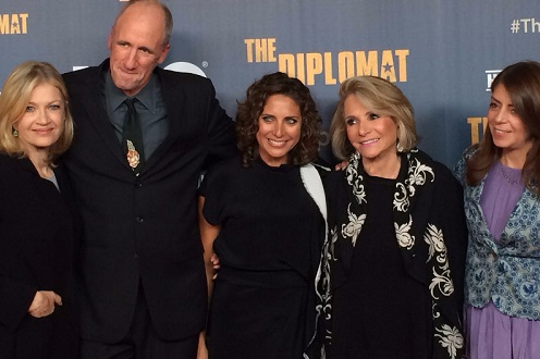 Stacey Reiss at HBO Premiere of The Dipomat with Diane Sawyer, Richard Holbrooke, Sheila Nevins, Nancy Abraham/Photo: Stacey Reiss