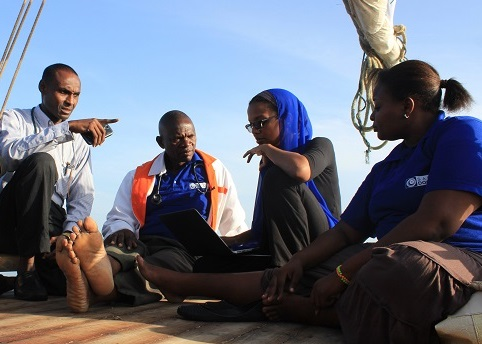Umra Omar at a Team Briefing/Photo: Safari Doctors