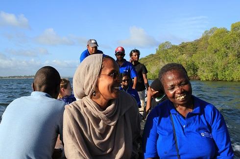 Umra Omar in Kiwayu Speed Boat/Photo: Safari Doctors