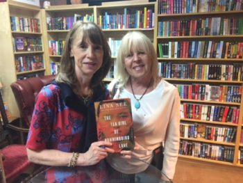 Lisa See, bestselling author, and Pamela Burke, founder TWE