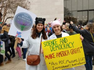 Advocating for Women Scientists at Womens March/Photo: Gretchen Goldman, Twitter