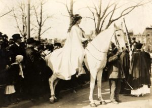 Inez Mulholland leading Women's Suffrage Procession Washington 3/3/13/Photo: Library of Congress