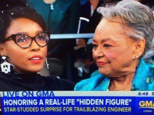 "Raye Montague on GMA for ""Hidden Figures""--Photo: Screenshot ABC"