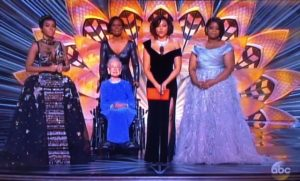 Hidden Figures Stars with Katherine Johnson Oscars '17/Photo: ABC Screenshot