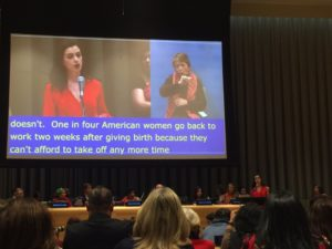 Anne Hathaway at UN/Photo: Twitter for Michelle King