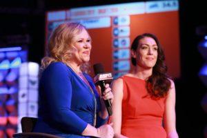 Holly Rowe, ESPN reporter interviewing Breanna Stewart 2016 WNBA Draft/Photo: Allen Kee/ESPN Images