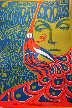 Bonnie Maclean Poster: Yardbirds, The Doors, James Cotton Blues Band, Richie Havens 1967