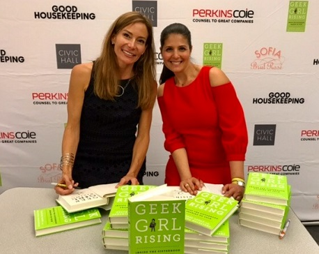 Authors Samantha Walravens and Heather Cabot of Geek Girl Rising/Photo provided by them | The Women's Eye Magazine and Radio Show