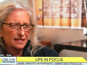 Anie Leibovitz on CBS This Morning/Photo: CBS Screenshot