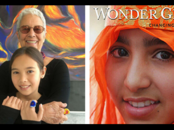 "Paola Gianturco and granddaughter Alex Sangster, authors of ""Wonder Girls"" 