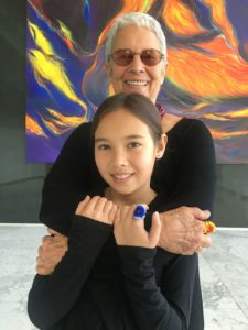 Paola Gianturco/Alex, her granddaughter, authors of Wonder Girls/Photo: Paola Gianturco