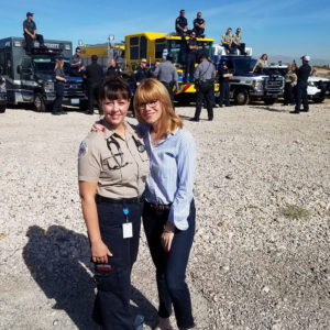 Photo: Stacey Gualandi with Heather Raasveld, Las Vegas First Responder as an advanced EMT with Medic West Ambulance