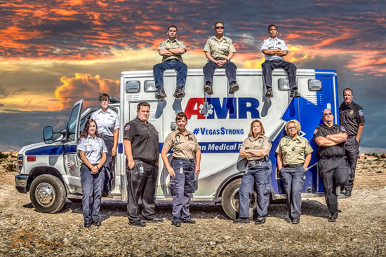 Photo: Las Vegas Medic first responders | Photo: Daniel Sundahl of DanSun Photo Art specializing in Emergency Responder artwork
