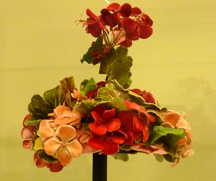 Camille Marchais Hand-Made Flower Hat at Legion of Honor Degas Exhibit/Photo: Courtesy Wendy Verlaine