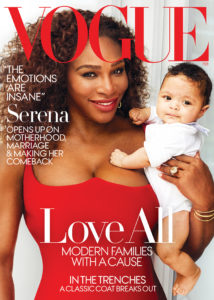 Serena Williams, tennis champ, on Vogue Cover on her pregnancy