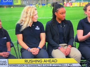 Women talk about the NFL and women's roles/CBS Screenshot
