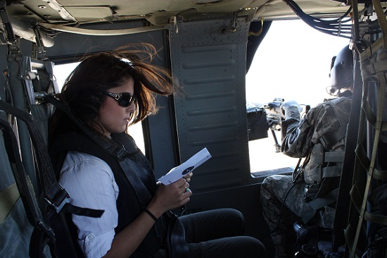 Atia Abawi, foreign correspondent, in Afghanistan/Photo provided by Atia Abawi | The Women's Eye Magazine and Radio Show