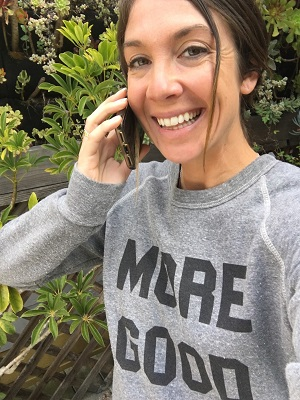 "Mary Latham, founder ""More Good"" movement/Photo: Selfie"
