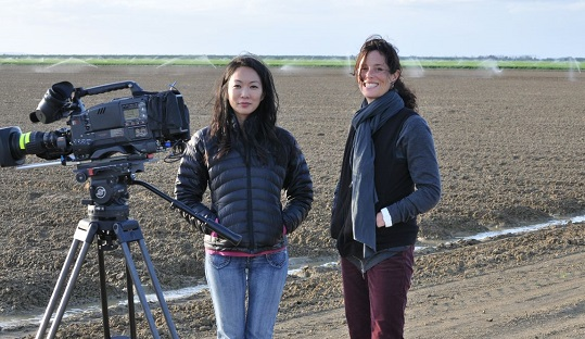 Director Jessica Yu, author Garden of the Lost and Abandoned, on location/Photo: Courtesy Downriver Films
