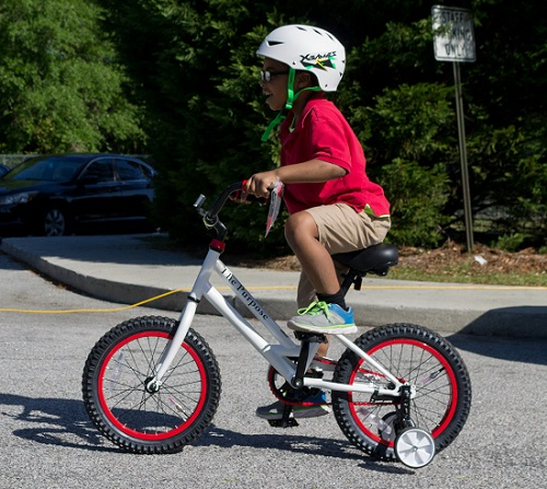 Bike supplied to child from Going Places in Charleston, SC/Photo Courtesy Katie Blomquist