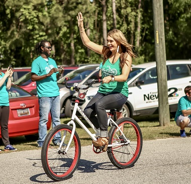 Katie Blomquist, founder Going Places supplying bikes to kids in Charleston, S. Carolina/Photo Courtesy Katie Blomquist