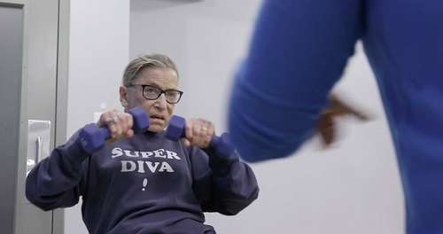 Ruth Bader Ginsburg exercising from RBG the movie/Photo: Courtesy Magnolia Pictures