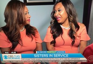 Twins Sisters in Michican running for office/Photo: CBS News Screenshot