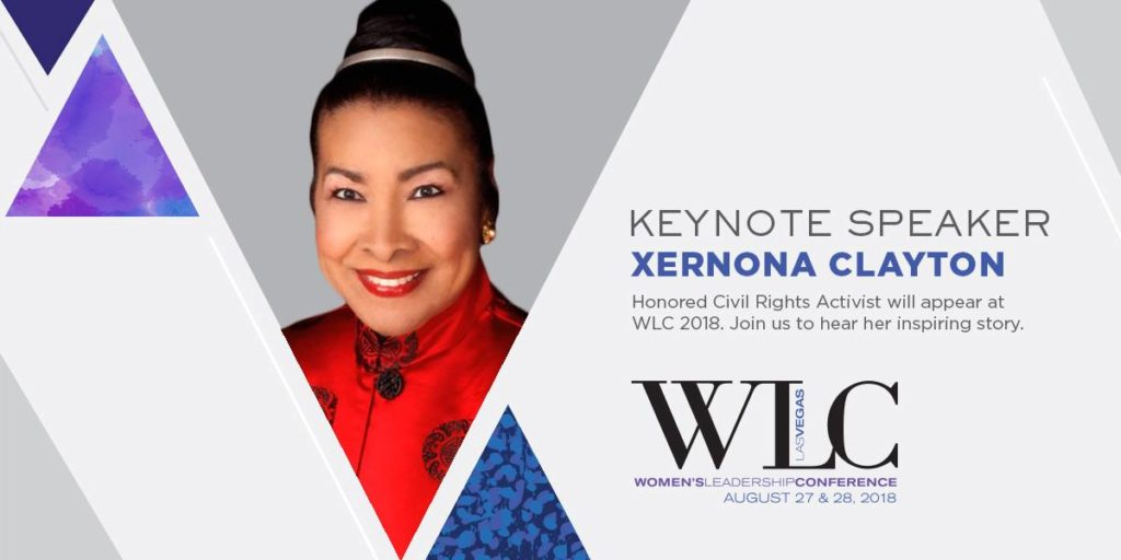 Xernona Clayton, speaker Women's Leadership Conference Las Vegas, 2018/Photo: Courtesy WLC