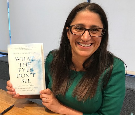 Dr. Mona Hanna-Attisha at Book Passage/Photo: P. Burke