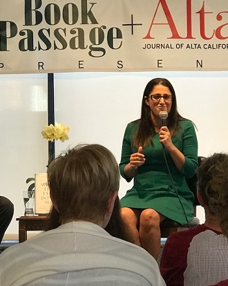 Dr. Mona Hanna-Attisha at Book Passage 7/18/Photo: P. Burke