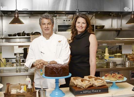 Elizabeth Blau restauranteur with husband/PHoto: Courtesy Elizabeth Blau