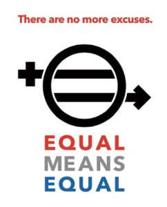 "Equal Rights Amendment logo provided by Kamala Lopez, director of ""Equal Means Equal"""