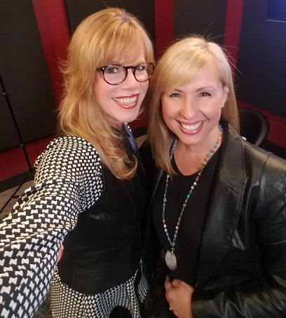 TWE host Stacey Gualandi and voiceover coach Melissa Moats/Photo Courtesy Stacey Gualandi