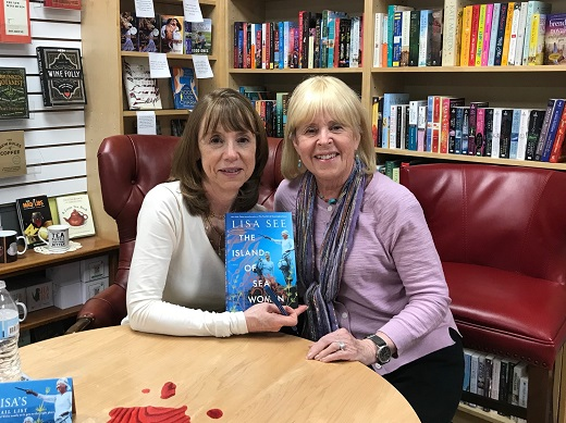 Lisa with TWE's Pam Burke at Poisoned Pen Bookstore, March, 2019