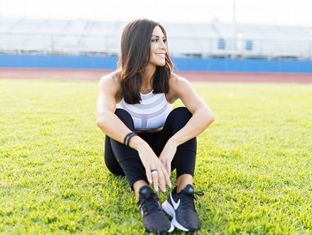 Felicia Romero, fitness coach, speaker, 9 time fitness cover model, host of The Diet Dropout Podcast